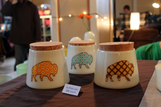 I really, really want one of these buffalo canisters from sandpiper studio