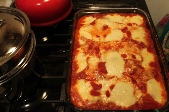 perfect dinner for a cold day - lasagna