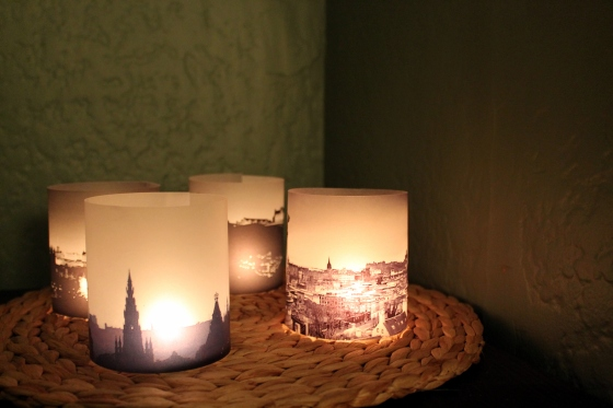 cosy candles with Edinburgh city scapes